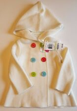 Baby Girls Hooded Knit Button Sweater 3-6 Months NWT Brand New