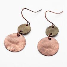 Vintage Retro Copper Gift Brass Dangle Drop Earrings Women Jewelry