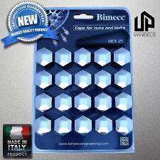 (20) NEW 21MM HEX CHROME CAP COVER SHIELD FASTENER LUG BOLT NUT ITALY MADE WHEEL