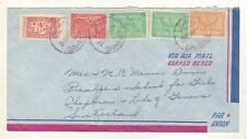 2605) Saudi Arabia 1953 AM Cover Dahran Geneve (CH)