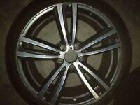 "BMW 19"" Genuine 3 4 Series Alloy Wheels Staggered Gun Metal 442M 7852493 7846780"