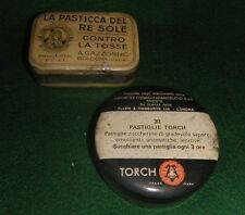PASTICCA del RE SOLE + PASTIGLIE TORCH - 2 VECCHIE SCATOLE IN LATTA