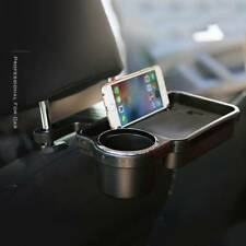 Folding Car Auto Rear Back Seat Table Drink Food Cup Tray Rack Desk Holder Stand