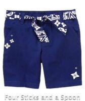New Gymboree Girl's Greek Isle Ocean Style Blue Shorts or Skirt Size: 5