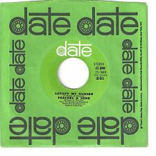 PEACHES & HERB  funky soul 45  Satisfy My Hunger / It's Just A Game, Love - NM