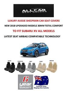 Sheepskin Car Seat Covers to fit Subaru XV , Seat Airbag Safe, 5 Colours avail.