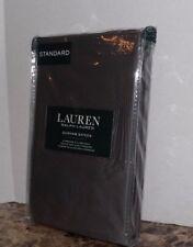 Lauren Ralph Lauren STANDARD Pillowcase Dunham Sateen 300tc Charcoal Grey Cotton