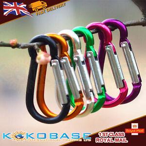 10 x Carabiner Small Spring Clip Snap Clasp Hook Keyring Carabina Karabiner