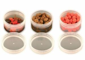 Fox Glug Bait Tubs Half Size Clear x 6 / Carp Fishing