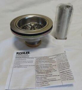 NIB NEW KOHLER K-8801-VS DUOSTRAINER STAINLESS STEEL BASKET SINK STRAINER