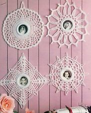 LACY Instant Photo Frames/CROCHET PATTERN INSTRUCTIONS ONLY