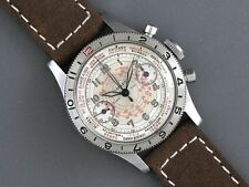 Gallet FLIGHT OFFICER - 1940'S - Multiple Time Zone Military Pilot's Chronograph