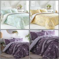 Floral Duvet Cover Delicate Flower Pretty Reversible Quilt Cover Set Bedding Set