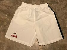 Vintage 90s Tommy Hilfiger USA Flag Spell-Out Embroidered Swim Trunks Adult Sz M