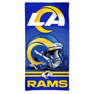"""LOS ANGELES RAMS LA RAMS 30""""X60"""" SPECTRA BEACH TOWEL NEW WINCRAFT 👀"""