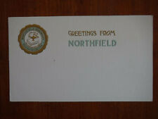 Northfield Seminary College Seal Series, Massachusetts, Beautiful Card, 1905