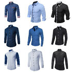 Luxury Fashion Men's Slim Fit Shirt Long Sleeve Dress Shirts Casual Shirts Tops