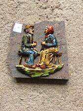 Décoration couple de personnes âgés sur plaque de marbre Vintage (12)