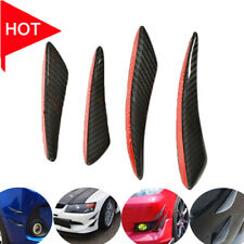 4Pcs Carbon Fiber Front Bumper Lip Splitter Fins Body Spoiler Canards Refit Trim