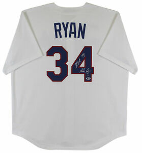 "Rangers Nolan Ryan ""HOF 99"" Signed Nike White Cooperstown Collection Jersey BAS"