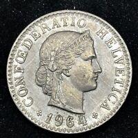 Switzerland- 1964 B- 20 Rappen - Copper/Nickel Coin - KM# 29a