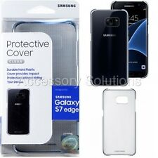 Samsung Galaxy S7 EDGE Protective Case Cover Clear / Black, EF-QG935CBEGUS OEM