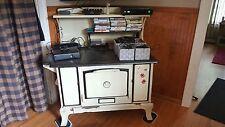 wood cook stove, antique stove , copper clad,  malleable range Co.
