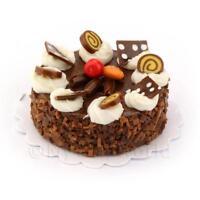 Dolls House Miniature Round Chocolate Candy Cake
