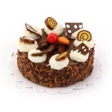 Maison de poupées miniature rond chocolat bonbon gâteau
