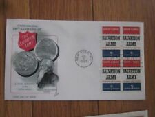 SALVATION ARMY FOUNDER WILLIAM BOOTH STAMP BLOCK FLEETWOOD CACHET 1965 FDC+INFO