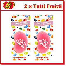 2 x Jelly Belly 3D Bean Hanging Car Air Freshener - Tutti Fruitti Scent