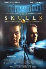 The Skulls Original Video Release Poster 26x40   2000 Paul Walker Joshua Jackson