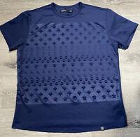 Hudson Outerwear 2XL Navy Blue Short Sleeve Raised Star Shirt