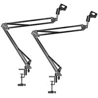 Neewer 2-pack NW-35 Black Microphone Suspension Scissor Arm Stand Mount