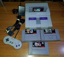 Super Nintendo SNES Console Bundle System, with 6 games bundle.mario paint ,etc.