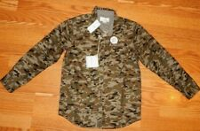 NEW! CRAFT & FLOW BOYS SOFT FEEL GREEN CAMO LONG SLEEVE SHIRT SZ BIG BOY 10/12M
