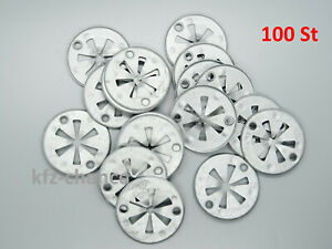 100 St Clamp Washer Clips Engine Cover Heat Shield for Audi Ford Skoda VW