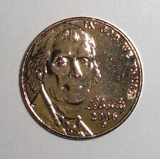 2006 US 5 cents nickel 24K Gold plated coin