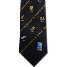 Rugby World Cup RWC 2011 PAST WINNERS TIE - BLACK ***NOW HALF PRICE***