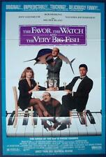 FAVOR WATCH & VERY BIG FISH Video Orig Movie Poster 1991 One Sheet 1SH FOLDED SS