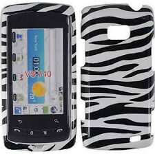For LG Ally VS740 Hard Protector Case Snap on Phone Cover Zebra Print