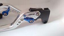 Yamaha FZ8 Silver Levers Blue Adjusters