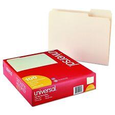 Universal 1/3 Assorted Cut File Folders Top Tab Letter Manila 100 count Classic