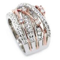 Hot Fashion 925 Silver White Sapphire Women Jewelry Wedding Rings Ring Size6-10