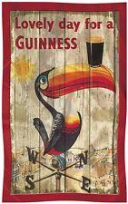 Guinness Toucan Weather Vane Distressed  Cotton Tea Towel   (sg)