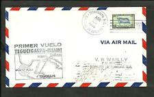 Honduras Tegucigalpa To Miami, Pan Am, 1St Flight Cover, Vf