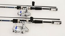 2 Daiwa Shock 2000-2B Spin Fishing Reels, 6ft Rods NEW