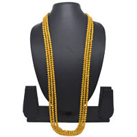 """Indian 42"""" Long Bokul Chain Mala Gold Plated Necklace Casual Party Ware Jewelry"""