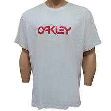 Oakley RETRO METALLIC Tee White Size XXL Mens Regular Casual Surf Logo T-shirt