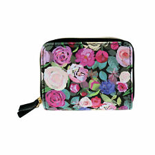 New Buxton Women's RFID Protected Floral Print Wizard Card Case Wallet